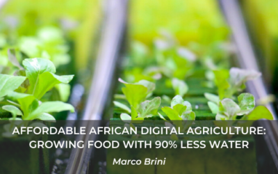 Affordable African Digital Agriculture: growing food with 90% less water